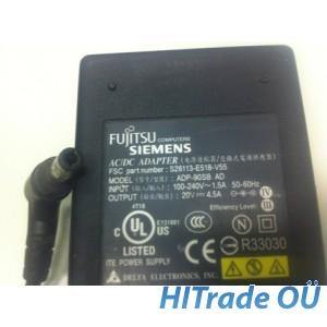 Fujitsu laadija 90W 20V 4.5A (5.5 x 2.5 - 90⁰) Originaal